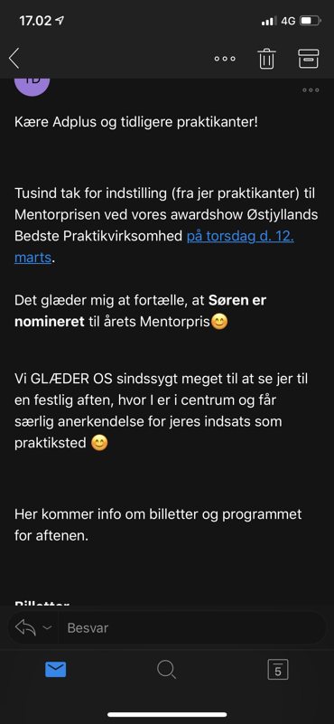email fra studenterhus Aarhus